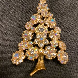 Kirks Folly Vintage Christmas Tree Brooch